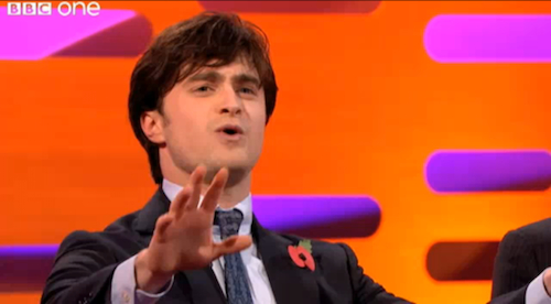 Daniel radcliffe sings the elements song on graham norton daniel radcliffe sings the elements song on graham norton urtaz Choice Image