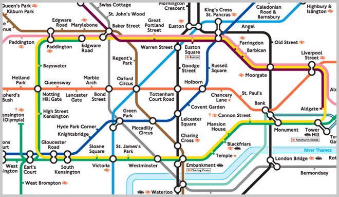 old london tube map pre smartphone days