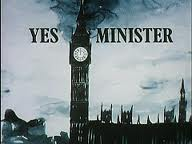 Yes Minister opening title graphic