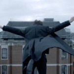 Sherlock jumps from St Barts rooftop at the end of series 2