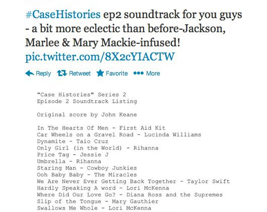 Case Histories 'scores' again with top notch soundtrack for ep 3