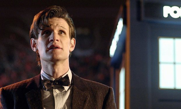 Matt Smith looking to the heavens perhaps to see who will replace him as the Twelfth Doctor