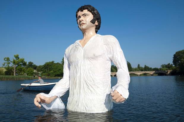 Oversized Mr Darcy in London's Hyde Park