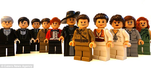 Downton Abbey Lego family photo