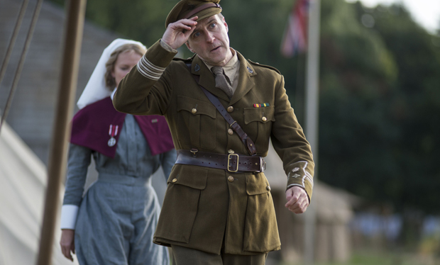 Kevin Doyle, Mr. Molesley in Downton Abbey, stars in The Crimson Field on BBC One