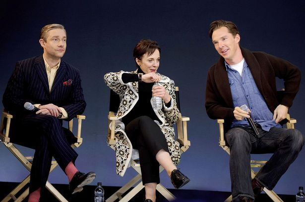 Martin-Freeman-Amanda-Abbington-and-Benedict-Cumberbatch