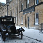 It's Christmas time as 'Downton Abbey' films at Alnwick Castle