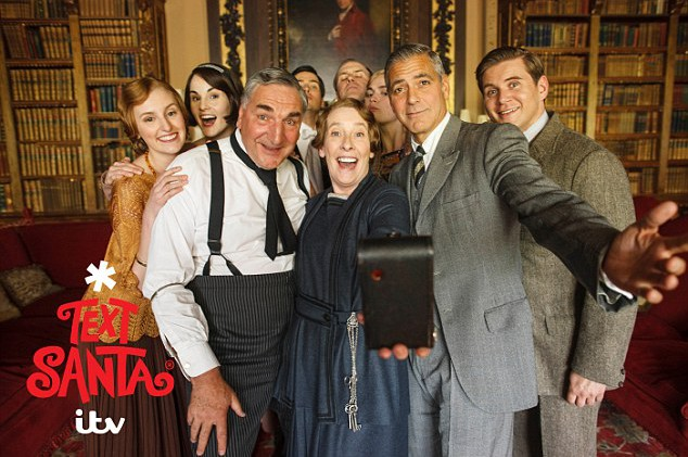 George Clooney arrives at Downton Abbey – Dowager Countess swoons!