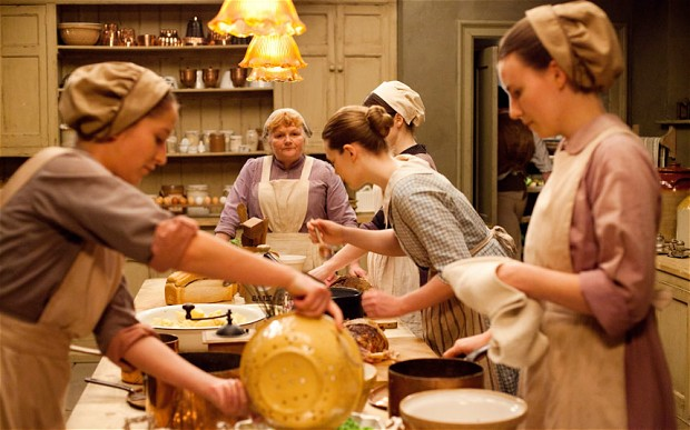 Mrs. Patmore oversees the kitchen at Downton