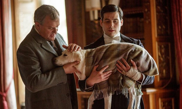 Lord Grantham says goodbye to Isis in Downton Abbey