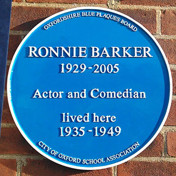 Ronnie Barker comedy blue plaque