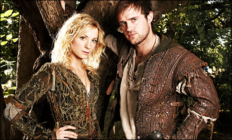 A pre-Downton Abbey Joanna Froggatt stars in Robin Hood with Jonas Armstrong