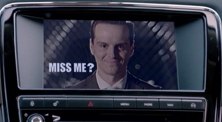 Just in case you 'miss' Moriarty, the 'Sherlock' star welcomes Comic-Con International 2015 attendees