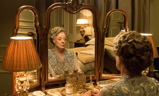 Downton Abbey's Dowager Countess prepares to go downstairs