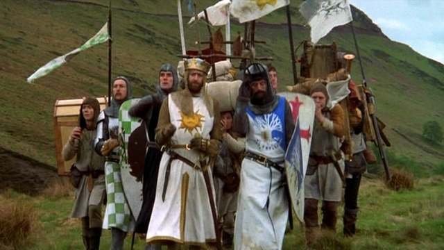 "Time for #TBT and a bit of ""making of"" gold from 'Monty Python & the Holy Grail'"