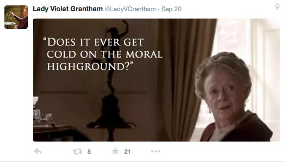LadyVGrantham on Twitter
