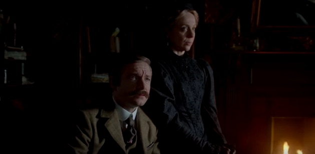 Watson and Mary in Sherlock The Abominable Bride