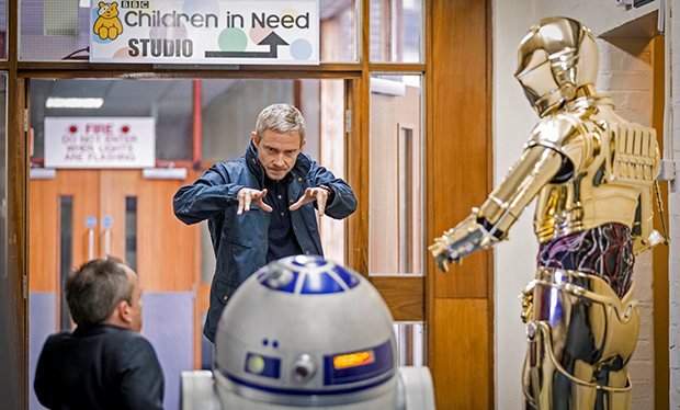 Sherlock's Martin Freeman channels his inner Yoda for 'Children in Need'