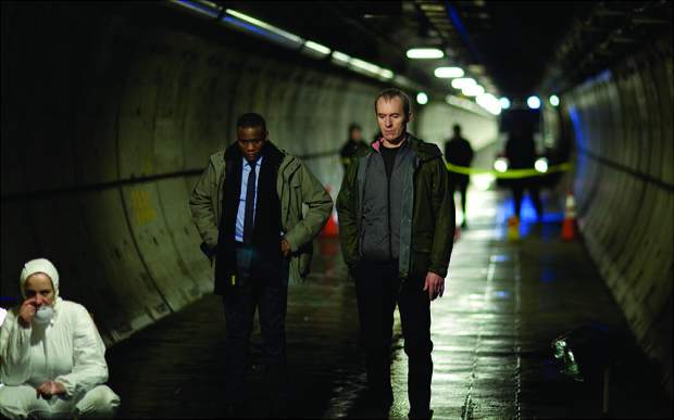 The Tunnel Day 22 - Eurotunnel the body is found Stephen Dillane as Karl L Cendrowicz
