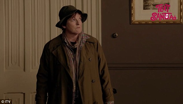 Brenda Blethyn investigates a murder at Downton Abbey for Text Santa