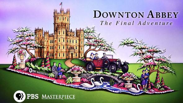 Farewell to 'Downton Abbey' begins with over-the-top Rose Parade float on New Year's Day