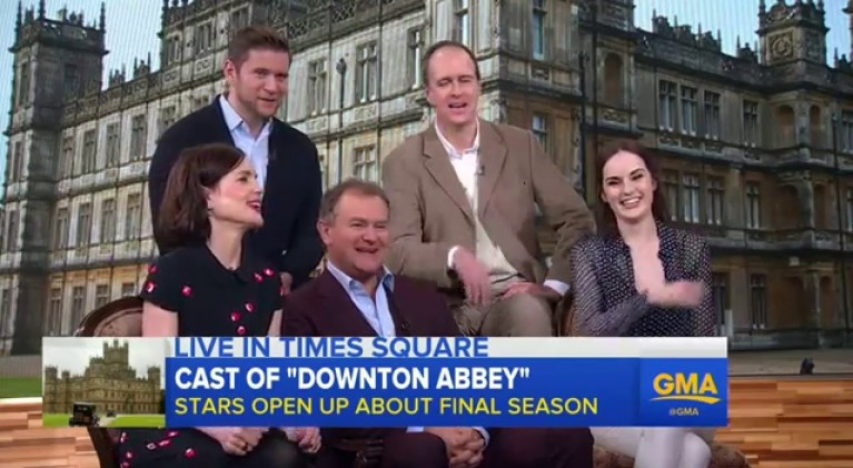 'Downton Abbey' stars head to New York for final season premiere hype