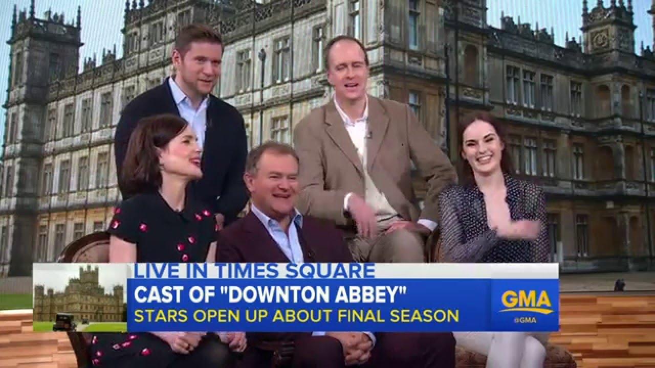 Downton Abbey cast talkserie 6 on GMA