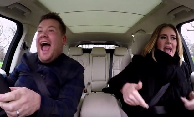 Behind the scenes of 'Carpool Karaoke' with James Corden and Adele