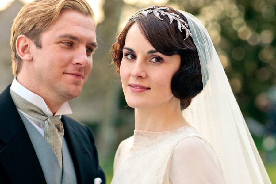 Matthew Crawley and Lady Mary in Downton Abbey