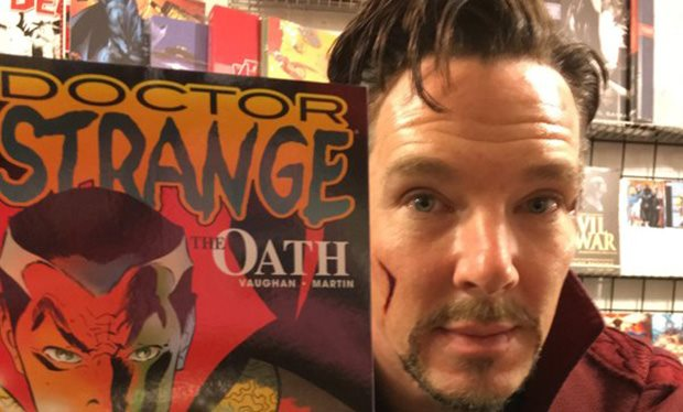 Doctor Strange takes a break on E. 32nd Street