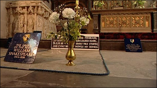 Shakespeare's grave and accompanying curse