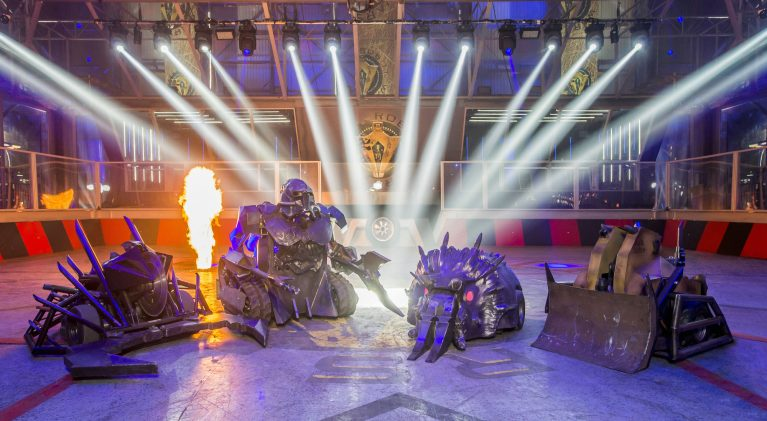 Programme Name: Robot Wars - TX: n/a - Episode: n/a (No. n/a) - Picture Shows: The House Robots Dead Metal, Sir Killalot, Matilda, Shunt - (C) Mentorn Media Scotland - Photographer: Alan Peebles