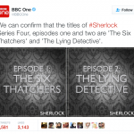 BBC confirms first two 'Sherlock 4' titles but still no broadcast date