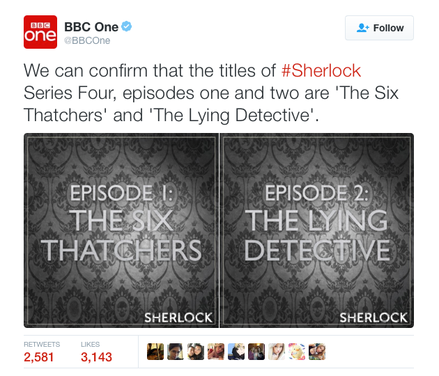 BBC confirms two titles for Sherlock 4