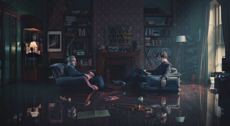 "A flooded 221b Baker St. proves ""It's not a game anymore"" this time around for Sherlock"