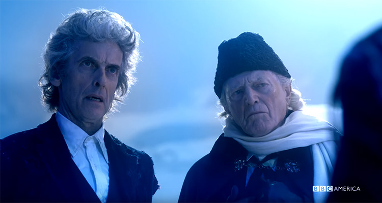 "Doctor #12 comes face to face with the past in his final adventure, ""Twice Upon a Time"""