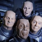 It's Kryten x 4 as the first image from 'Red Dwarf XII' is released