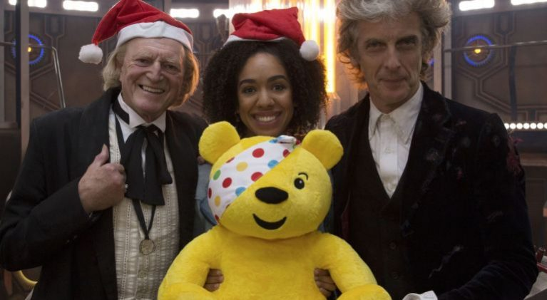 Doctors 1 & 12 get in the holiday spirit for Children in Need