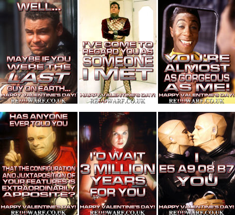How about a 'Red Dwarf' themed Valentine's Day e-card for that special someone?