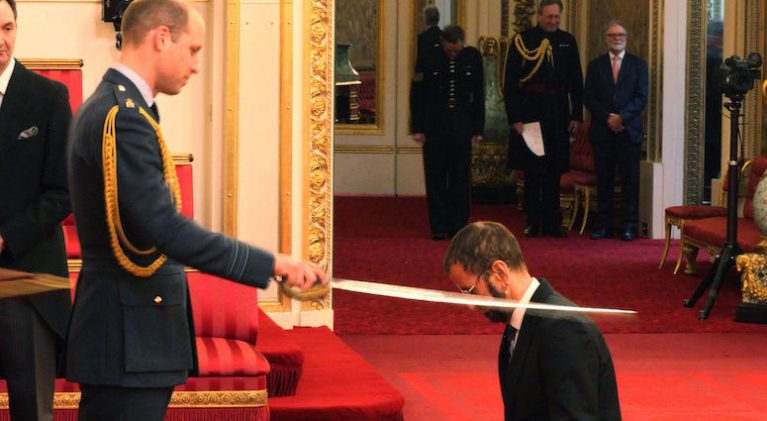 21 years later, Sir Richard/Ringo joins Sir Paul in Buckingham Palace ceremony