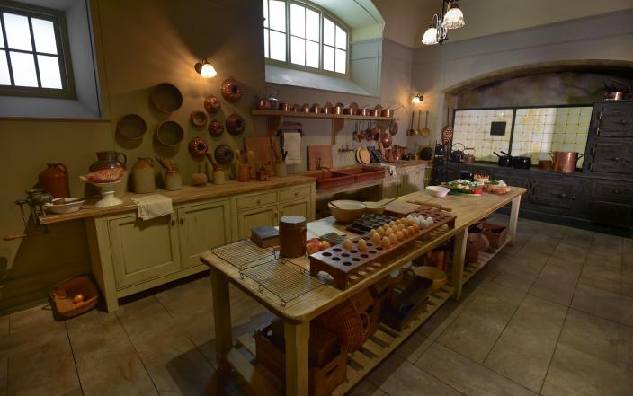 Mrs. Patmore's kitchen in Downton Abbey