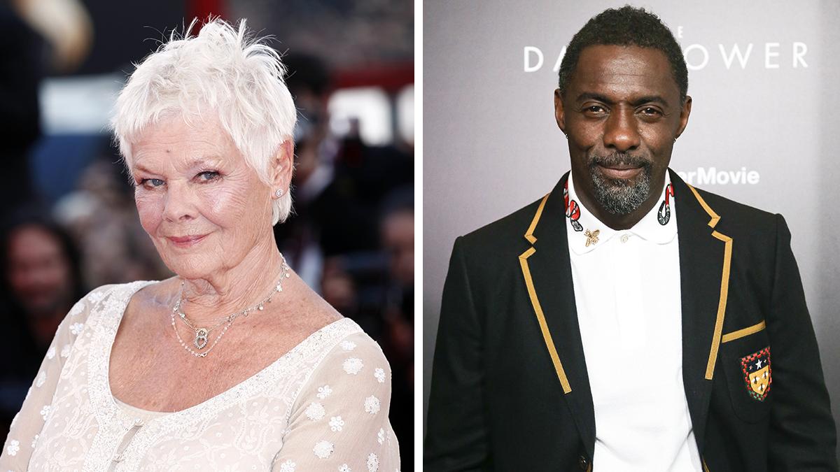 Actors Dame Judi Dench and Idris Elba