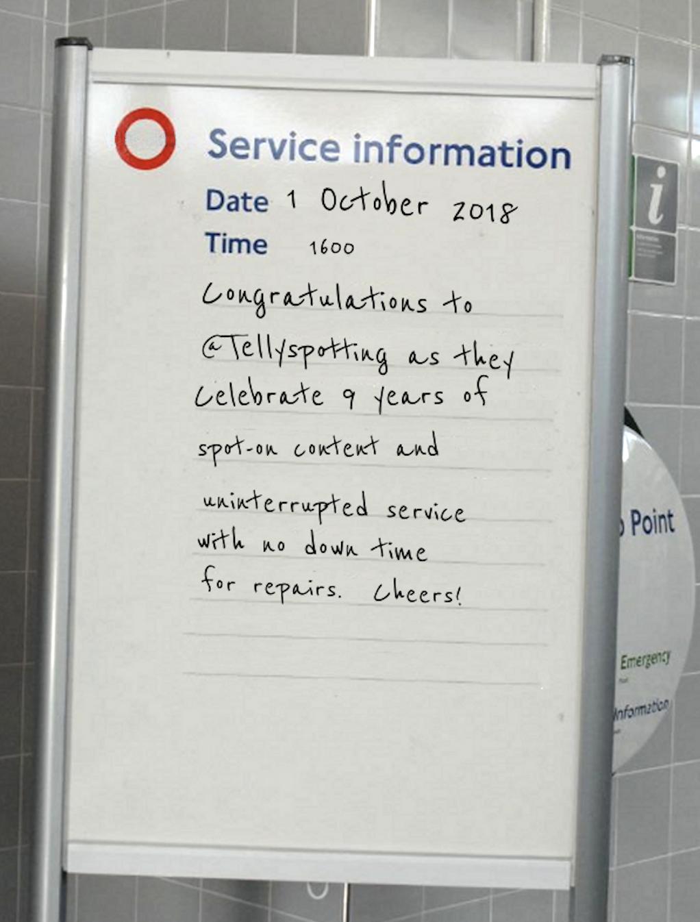 London Underground birthday wishes