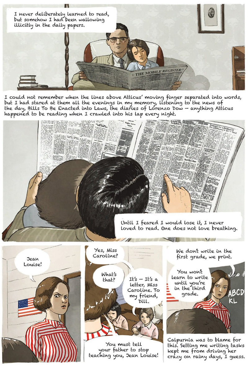 Excerpt of To Kill a Mockingbird graphic novel by Fred Fordham