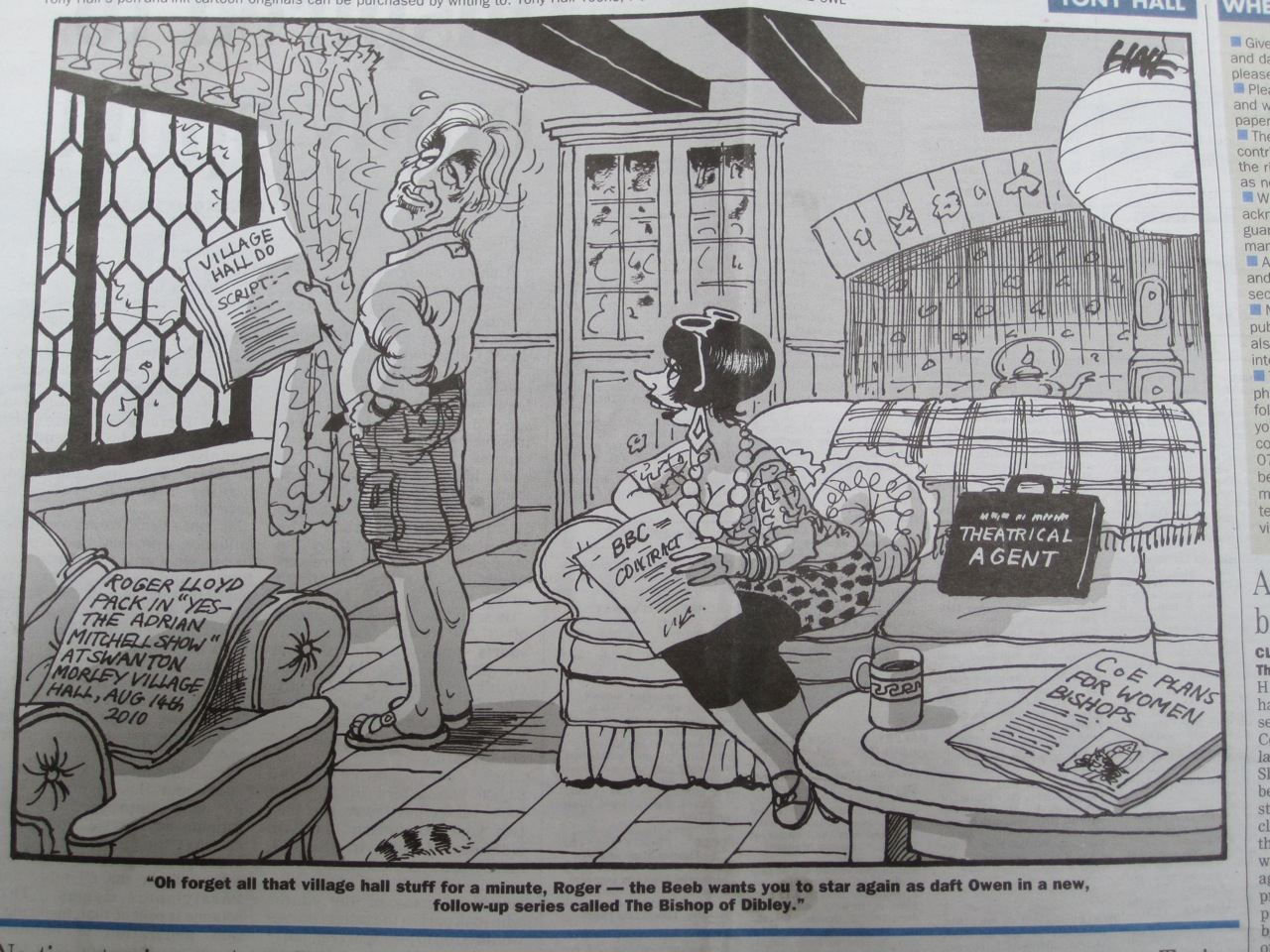 Kentish Town newspaper cartoon about Vicar of Dibley