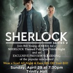 Special Sherlock 2 sneak preview, Sunday (4/29) at 7:30pm – Trinity Hall, Mockingbird Station