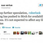 Despite production delay, Sherlock 3 on schedule for 2013 tx