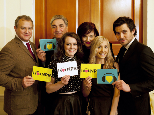 Downton Abbey cast members at NPR