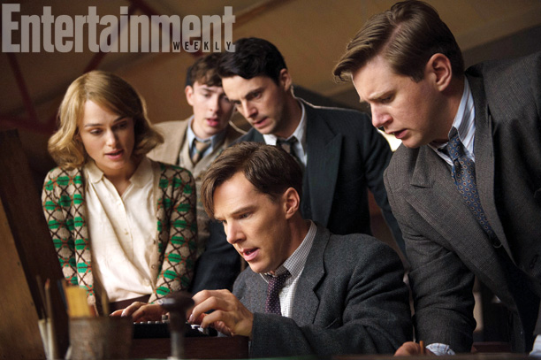 Benedict Cumberbatch and Alan Leech in The Imitation Game