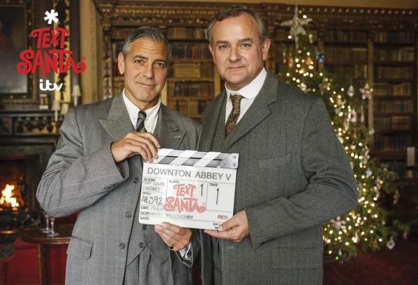 George Clooney and Hugh Bonneville want you to Text Santa